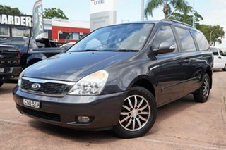 2013 Kia Grand Carnival VQ MY13 SLi Grey 6 Speed Automatic Wagon.
