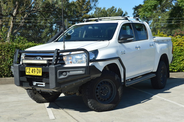 Used Toyota Hilux GUN126R SR Double Cab Maitland, 2016 Toyota Hilux GUN126R SR Double Cab White 6 Speed Sports Automatic Utility
