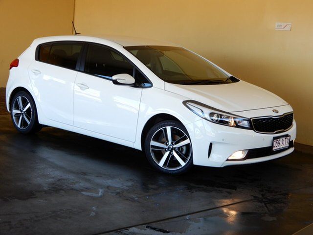 Used Kia Cerato YD MY18 Sport Toowoomba, 2017 Kia Cerato YD MY18 Sport White 6 Speed Auto Seq Sportshift Hatchback