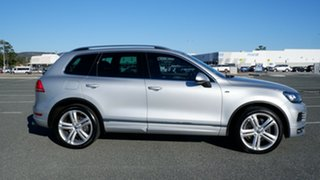 2013 Volkswagen Touareg 7P MY14 V8 TDI Tiptronic 4MOTION R-Line Silver 8 Speed Sports Automatic.
