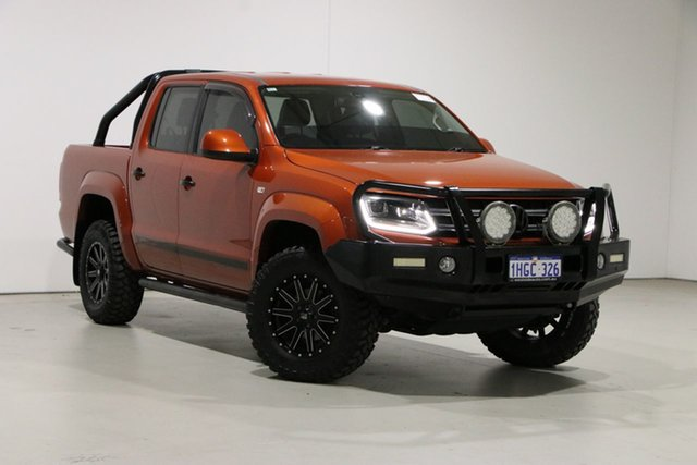 Used Volkswagen Amarok 2H MY14 TDI420 Canyon (4x4) Bentley, 2015 Volkswagen Amarok 2H MY14 TDI420 Canyon (4x4) Orange 8 Speed Automatic Dual Cab Utility