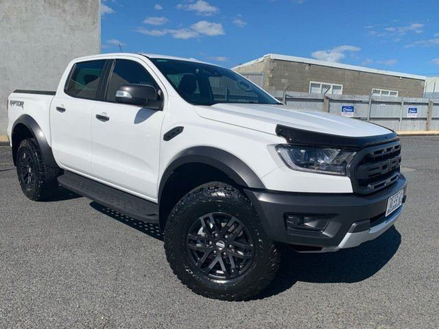 Used Ford Ranger PX MkIII 2020.25MY Raptor Hobart, 2020 Ford Ranger PX MkIII 2020.25MY Raptor White 10 Speed Sports Automatic Double Cab Pick Up