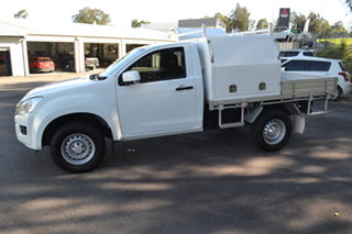 2016 Isuzu D-MAX MY15 SX 4x2 High Ride White 5 Speed Sports Automatic Cab Chassis