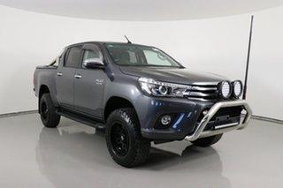 2017 Toyota Hilux GUN126R MY17 SR5 (4x4) Graphite 6 Speed Automatic Dual Cab Utility.