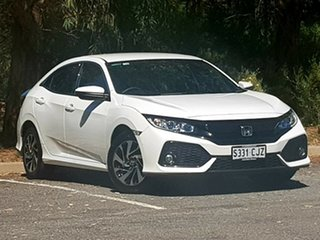 2017 Honda Civic 10th Gen MY17 VTi-S White 1 Speed Constant Variable Hatchback.