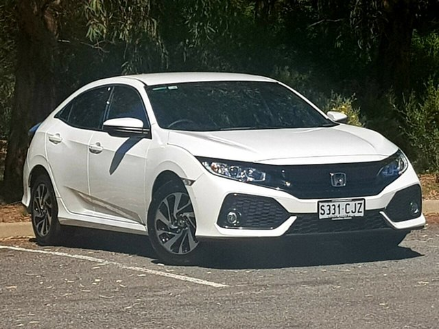 Used Honda Civic 10th Gen MY17 VTi-S Morphett Vale, 2017 Honda Civic 10th Gen MY17 VTi-S White 1 Speed Constant Variable Hatchback