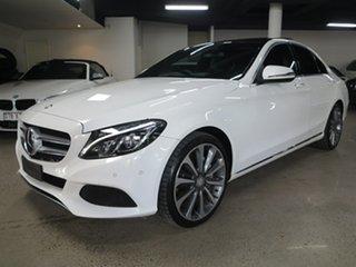 2016 Mercedes-Benz C-Class W205 806+056MY C250 7G-Tronic + White 7 Speed Sports Automatic Sedan.
