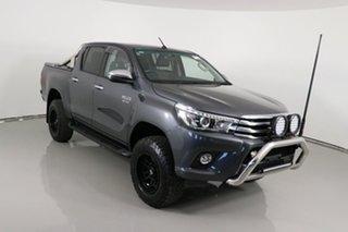 2017 Toyota Hilux GUN126R MY17 SR5 (4x4) Graphite 6 Speed Automatic Dual Cab Utility