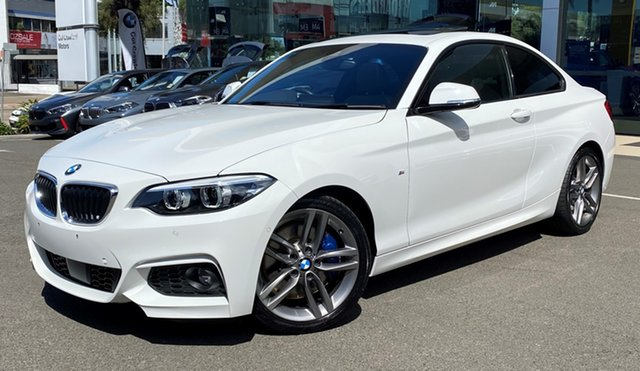 Used BMW 230i F22 MY17 M Sport Brookvale, 2019 BMW 230i F22 MY17 M Sport Alpine White 8 Speed Automatic Coupe
