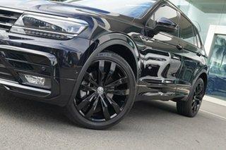 2018 Volkswagen Tiguan 5NA MY19 Wolfsburg Edition Deep Black Pearl 7 Speed Auto Direct Shift Wagon.