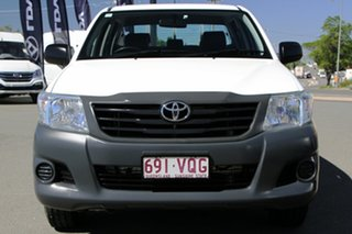 2015 Toyota Hilux TGN16R MY14 Workmate Double Cab 4x2 Glacier White 4 Speed Automatic Utility