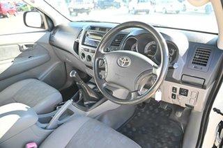 2010 Toyota Hilux KUN26R MY10 SR White 5 Speed Manual Dual Cab