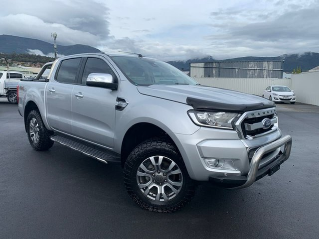 Used Ford Ranger PX MkII 2018.00MY XLT Double Cab Moonah, 2018 Ford Ranger PX MkII 2018.00MY XLT Double Cab Silver 6 Speed Sports Automatic Utility