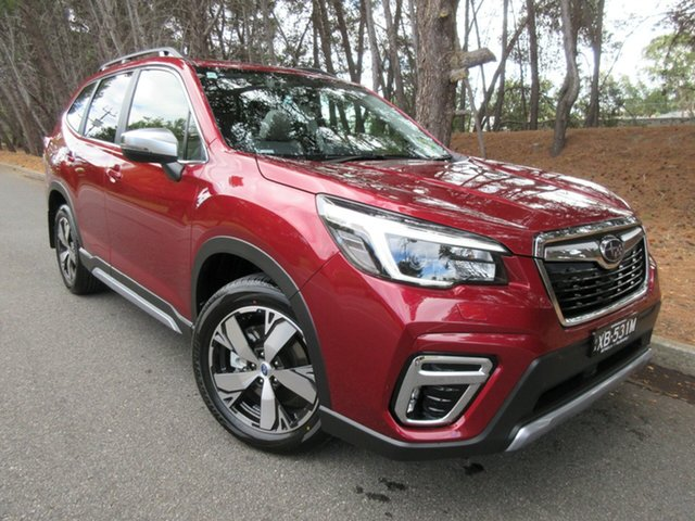 Demo Subaru Forester S5 MY21 2.5i-S CVT AWD Reynella, 2021 Subaru Forester S5 MY21 2.5i-S CVT AWD Crimson Red 7 Speed Constant Variable Wagon