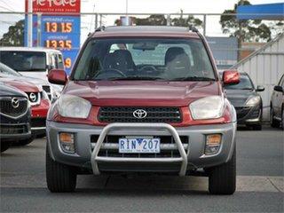 2001 Toyota RAV4 ACA21R Cruiser Red Automatic Wagon.