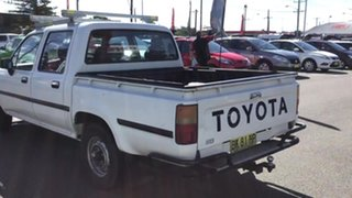 1997 Toyota Hilux RN85R DX 4x2 White 5 Speed Manual Utility