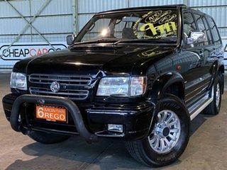 2002 Holden Jackaroo U8 MY02 Equipe SE Black 4 Speed Automatic Wagon.