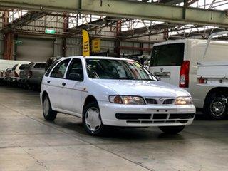 1998 Nissan Pulsar N15 LX White 4 Speed Automatic Hatchback.