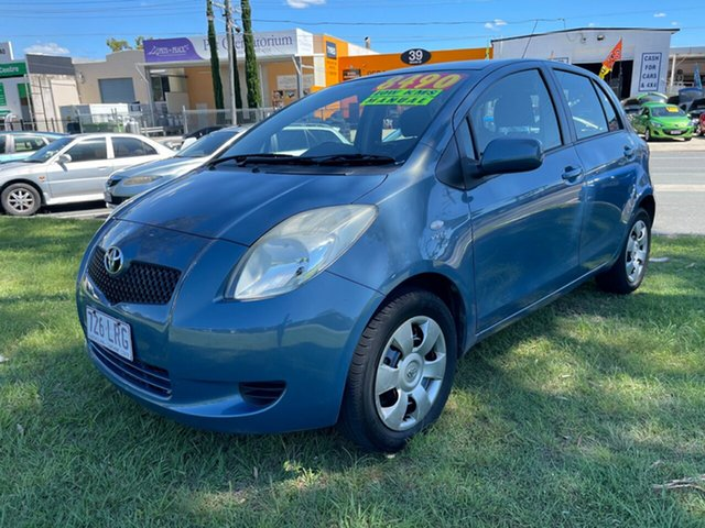 Used Toyota Yaris NCP91R MY09 YRS Clontarf, 2008 Toyota Yaris NCP91R MY09 YRS Blue 5 Speed Manual Hatchback