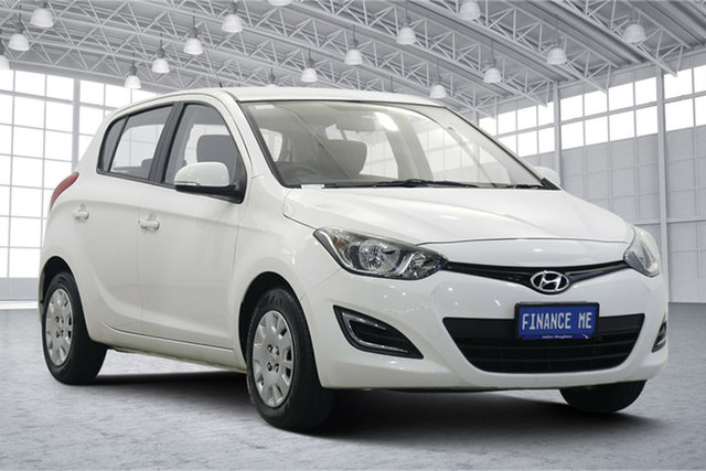 Used Hyundai i20 PB MY13 Active Victoria Park, 2013 Hyundai i20 PB MY13 Active Coral White 6 Speed Manual Hatchback