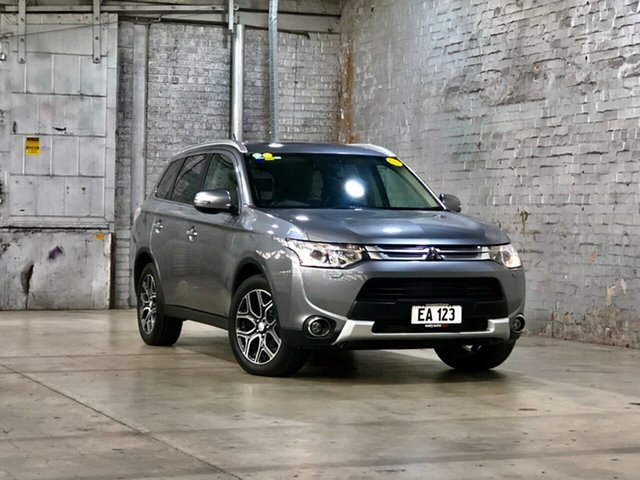 Used Mitsubishi Outlander ZJ MY14.5 Aspire 4WD Mile End South, 2014 Mitsubishi Outlander ZJ MY14.5 Aspire 4WD Grey 6 Speed Constant Variable Wagon