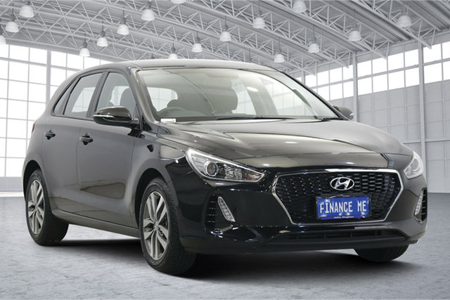 Used Hyundai i30 PD2 MY18 Active Victoria Park, 2018 Hyundai i30 PD2 MY18 Active Phantom Black 6 Speed Sports Automatic Hatchback