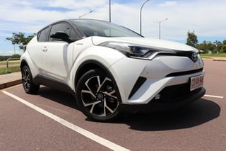 2018 Toyota C-HR NGX50R Koba S-CVT AWD Crystal Pearl & Black Roof 7 Speed Automatic Wagon.