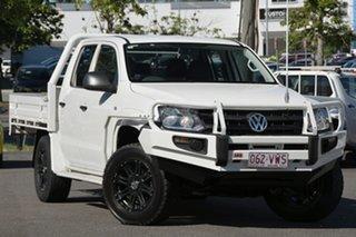 2014 Volkswagen Amarok 2H MY14 TDI400 4Mot Trendline White 6 Speed Manual Cab Chassis.