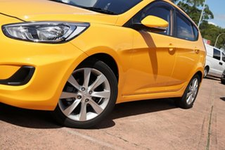 2018 Hyundai Accent RB6 MY18 Sport Yellow 6 Speed Automatic Hatchback.