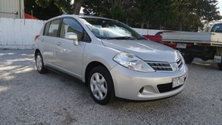 2011 Nissan Tiida C11 S3 ST Silver 4 Speed Automatic Hatchback.