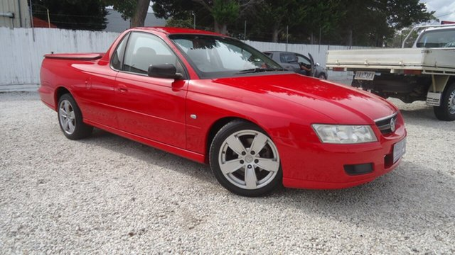 Used Holden Ute VZ Seaford, 2005 Holden Ute VZ Red 4 Speed Automatic Utility