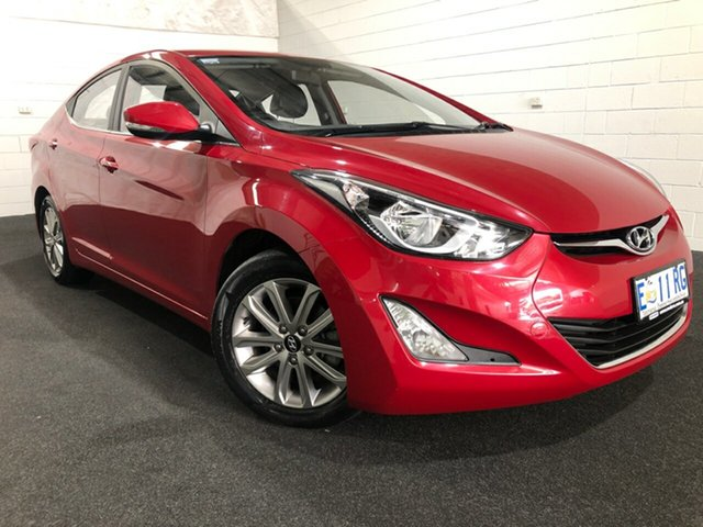 Used Hyundai Elantra MD3 SE Glenorchy, 2015 Hyundai Elantra MD3 SE Red 6 Speed Sports Automatic Sedan