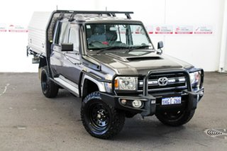 2015 Toyota Landcruiser VDJ79R MY12 Update GXL (4x4) Graphite 5 Speed Manual Double Cab Chassis.