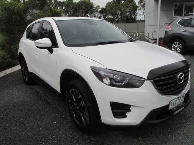 Used Mazda CX-5 KE1022 Grand Touring SKYACTIV-Drive AWD Echuca, 2016 Mazda CX-5 KE1022 Grand Touring SKYACTIV-Drive AWD White 6 Speed Sports Automatic Wagon