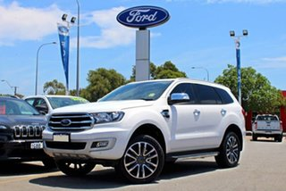 2018 Ford Everest UA II 2019.00MY Titanium White 10 Speed Sports Automatic SUV.