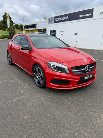 Used Mercedes-Benz A-Class W176 A250 D-CT Sport Warrnambool East, 2013 Mercedes-Benz A-Class W176 A250 D-CT Sport Red 7 Speed Sports Automatic Dual Clutch Hatchback
