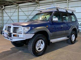 2000 Toyota Landcruiser Prado KZJ95R TX FullTime 4WD DR Blue 5 Speed Manual Wagon.