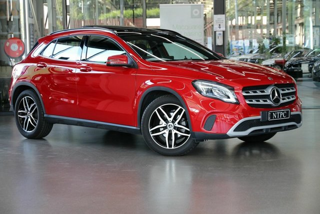 Used Mercedes-Benz GLA-Class X156 809+059MY GLA180 DCT North Melbourne, 2018 Mercedes-Benz GLA-Class X156 809+059MY GLA180 DCT Red 7 Speed Sports Automatic Dual Clutch