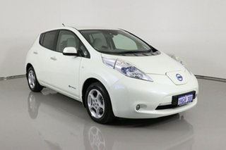 2014 Nissan Leaf ZE0 White 1 Speed Automatic Hatchback.
