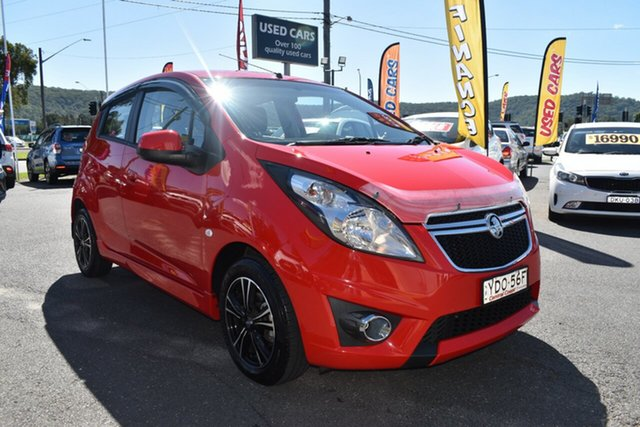 Used Holden Barina Spark MJ MY15 CD Gosford, 2015 Holden Barina Spark MJ MY15 CD Red 4 Speed Automatic Hatchback