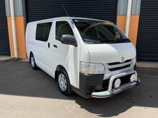 2018 Toyota HiAce KDH201R Crewvan LWB White 4 Speed Automatic Van Wagon.