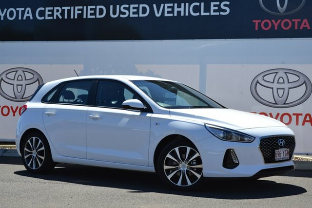 Pre-Owned Hyundai i30 PD2 Trophy Limited Edition Warwick, 2018 Hyundai i30 PD2 Trophy Limited Edition White 6 Speed Auto Sequential Hatchback