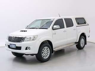 2014 Toyota Hilux KUN26R MY12 SR5 (4x4) White 5 Speed Manual Dual Cab Pick-up.
