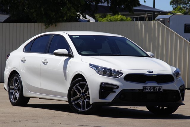 Used Kia Cerato BD MY19 Sport+ Bundamba, 2018 Kia Cerato BD MY19 Sport+ Clear White 6 Speed Sports Automatic Sedan