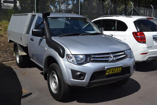 Used Mitsubishi Triton MN MY15 GLX Maitland, 2015 Mitsubishi Triton MN MY15 GLX Silver 5 Speed Manual Cab Chassis
