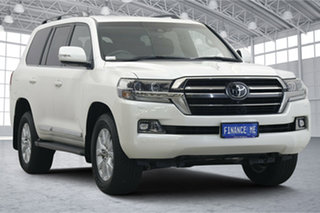 2020 Toyota Landcruiser VDJ200R Sahara Horizon White 6 Speed Sports Automatic Wagon.