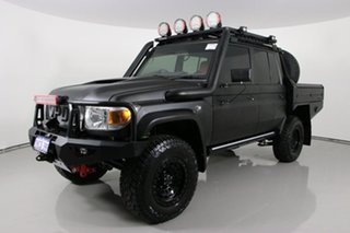 2019 Toyota Landcruiser VDJ79R GXL (4x4) Black 5 Speed Manual Double Cab Chassis.