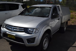 2015 Mitsubishi Triton MN MY15 GLX Silver 5 Speed Manual Cab Chassis.