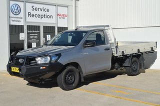 2015 Toyota Hilux TGN121R Workmate 4x2 Silver 5 Speed Manual Cab Chassis