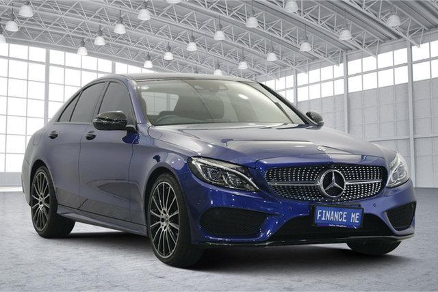 Used Mercedes-Benz C-Class W205 807+057MY C200 9G-Tronic Victoria Park, 2017 Mercedes-Benz C-Class W205 807+057MY C200 9G-Tronic Blue 9 Speed Sports Automatic Sedan